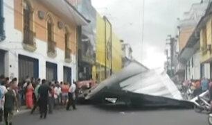 Iquitos: una persona herida y varios daños materiales dejaron vientos huracanados