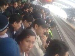 Metro de Lima: Falla de trenes generó retraso en Estación Grau