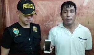 PNP captura a peligroso ladrón en San Martín de Porres