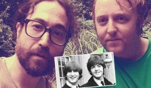 Sangre de Beatles: los hijos de John Lennon y Paul McCartney se sacaron selfie juntos
