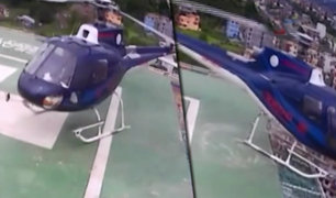 Nepal: helicóptero falla al momento de despegar y cae de edificio