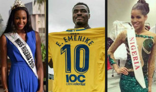 Futbolista causa revuelo tras haberse casado con dos Miss Nigeria