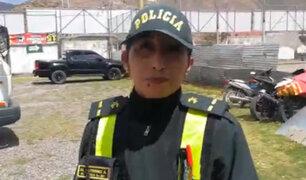 Cusco: policía pone papeleta a su colega