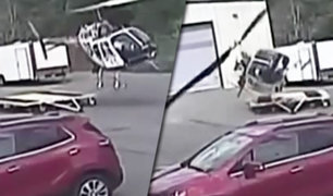 EEUU: helicóptero de la policía de Arkansas se accidenta al despegar