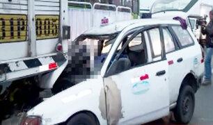 Caos vehicular tras accidente que cobró la vida de una persona en la vía de Evitamiento