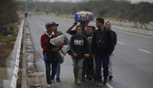 Aumenta número de venezolanos que ingresan caminando a Tumbes