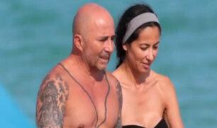 Miami: Jorge Sampaoli fue captado disfrutando de la playa junto a su novia
