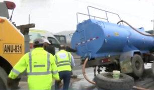Panamericana Norte: choque entre camión y una cisterna deja tres heridos