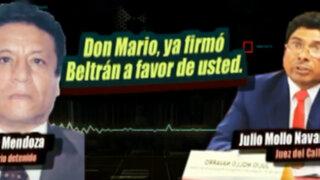 Audios revelan que empresario Mario Mendoza controlaba sus procesos judiciales