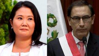Congreso: reacciones por reuniones secretas entre presidente Vizcarra y Keiko Fujimori