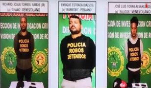 SMP: capturan a miembros de banda criminal 'Los pistoleros internacionales'