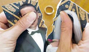 Según la Sunarp, en lo que va del año se han registrado más de 5 mil divorcios a nivel nacional