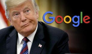 EEUU: Donald Trump acusa a Google de ocultar noticias positivas sobre él y su partido