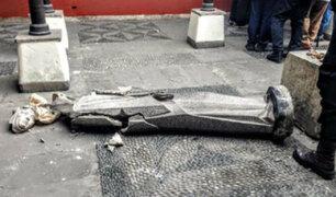 Restaurarán estatua de Santa Rosa de Lima que se destruyó tras caer de su base