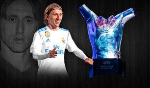 Croata Luka Modric fue elegido el mejor jugador de la UEFA