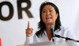 Keiko Fujimori negó en Twitter reunión con el suspendido juez César Hinostroza