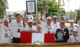 Iquitos: se bate nuevo Récord Guinness de Mazamorra de Fruta hecha con Aguaje