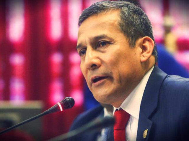 Expresidente Ollanta Humala no se presentó ante la Comisión Madre Mía