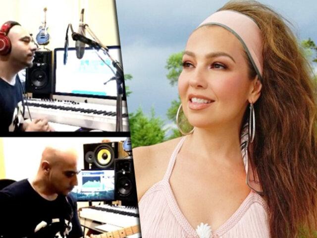"""El famoso """"¿Me escuchan? ¿Me oyen? de Thalía, ya tiene canción"""