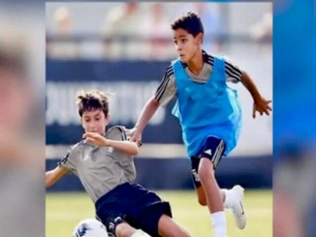Hijos de jugadores ya inician sus carreras en el fútbol