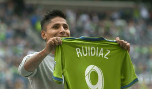 Raúl Ruidíaz anotó su tercer gol de la temporada con Seattle
