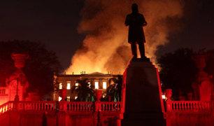 Brasil: gran incendio consume museo de Río de Janeiro
