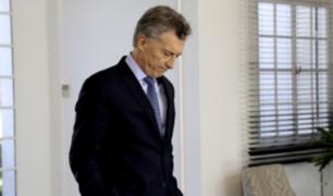 Mauricio Macri reconoce que Argentina está en emergencia