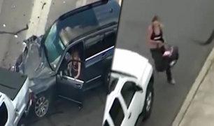 EEUU: mujer y su bebé protagonizan espectacular persecución policial en Texas