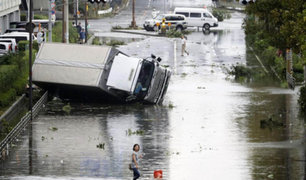 Japón: paso de tifón Jebi deja 7 muertos y más de 200 heridos