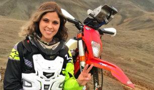 Gianna Velarde: la primera motociclista peruana que participará en el Dakar