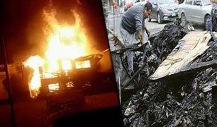 Oxapampa: corto circuito ocasiona incendio que destruye vivienda