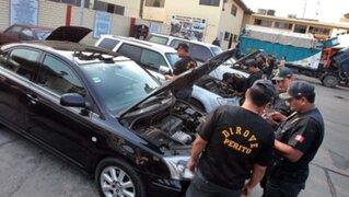 Policía Nacional desarticuló banda de 'robacarros'