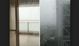 Andrés Iniesta y su familia sufrieron la llegada del tifón Jebi