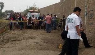 Hallan cadáver de joven en una chacra de Chiclayo