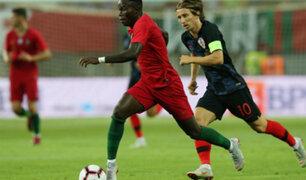 Portugal y Croacia igualaron 1-1 el marcador tras amistoso