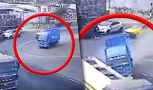 Trujillo: camión cisterna se despista por excesiva velocidad