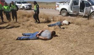 """Juliaca: tras persecución policial caen """"Los malditos de la red vial Ayaviri"""""""
