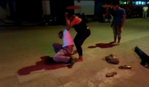 Tarapoto: travesti golpea a un hombre en la vía pública por no pagar servicios