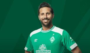 Claudio Pizarro anota dos goles en amistoso con Bremen