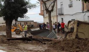 España: lluvias torrenciales provocó desbordamiento de ríos en Cebolla
