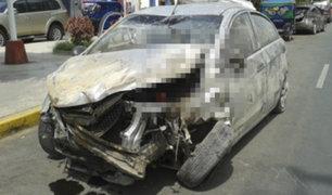 Cañete: auto se despista frente a base de serenazgo y deja dos heridos