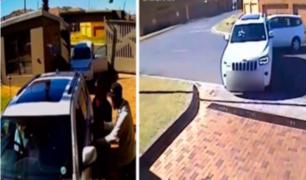 Sudáfrica: mujer embiste a delincuentes embiste con su camioneta y frustra asalto