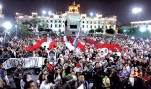 Centro de Lima: organizaciones civiles marcharon pidiendo renuncia de fiscal Pedro Chavarry
