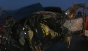 Cañete:  familiares y vecinos consternados por la muerte de madre e hijo en accidente