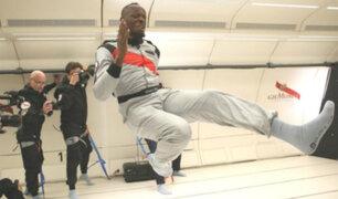 Usain Bolt triunfó durante una carrera sin gravedad