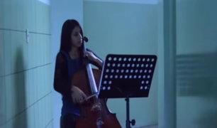 Cellista profesional recuperó su instrumento musical que había sido robado