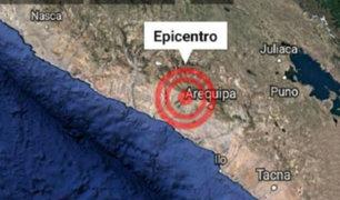 Sismos de magnitudes 5.8 y 4.5 grados remecieron Arequipa este viernes