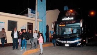 Asaltan a 50 pasajeros de bus interprovincial en La Libertad