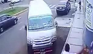 Cañete: combi se despista y se estrella contra un paradero