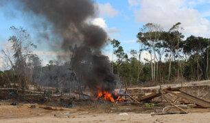 Madre de Dios: fuerzas del orden destruyen equipos de minería ilegal